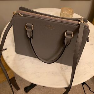 NEW Gray Kate Spade Purse with Crossbody Strap